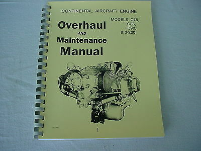 Continental Engines  C75 C85 C90 0-200 Overhaul Manual -1