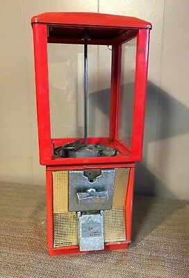 Vintage Northwestern Gumball Candy Vending Machine Red For Parts Or Repair