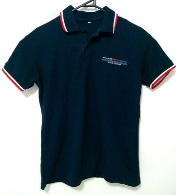 Williams Martini Racing Team Authentic Mens Polo Shirt Size S Short Sleeve Navy