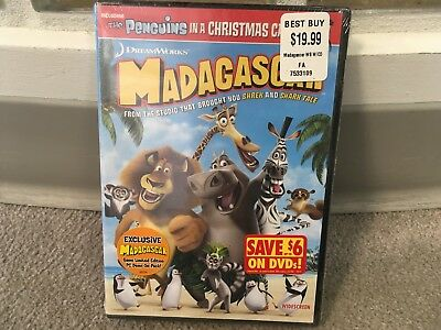 Madagascar (Widescreen Edition) DVD - Factory Sealed FREE SHIPPING