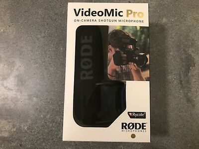 BRAND NEW!  Rode VideoMic Pro with Integrated Rycote Lyre Suspension