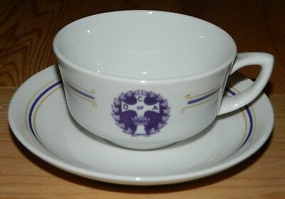1930 OP Co Syracuse China Catholic Daughters Of America Cup Saucer & Plate