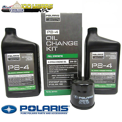 2877473 Oem Polaris Ps-4 Full Synthetic Oil Change Kit Free Expedited Shipping!!