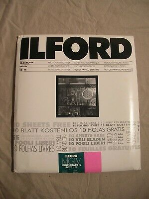 """Ilford Mgiv Multigrade Iv Rc Deluxe 35 Sheets 8X10"""" Black White Glossy Sealed"""