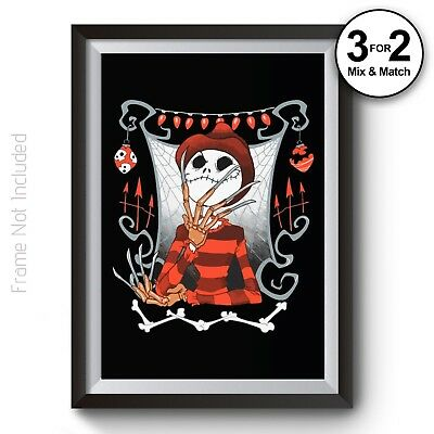 The Nightmare Before Christmas GIANT BIG POSTER PRINT ART TNBC03 A1,A2,A3,A4