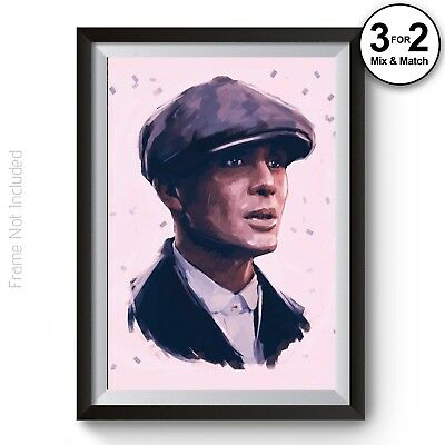 Tommy Shelby Peaky Blinders Brothers Gangster 100% Cotton Wall Art Poster Print