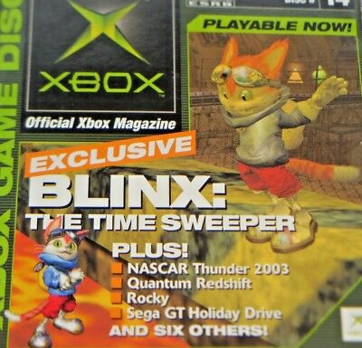 Offical Xbox Game Disc #14 Blinx The Time Sweeper Original Xbox Demo Disc Rocky