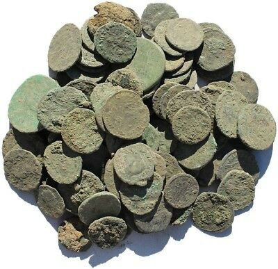 Lot Of (5) Uncleaned Ungraded Ancient Roman Coins