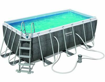 Piscina Bestway Power Steel 56722 Rettangolare 412X201 Cm