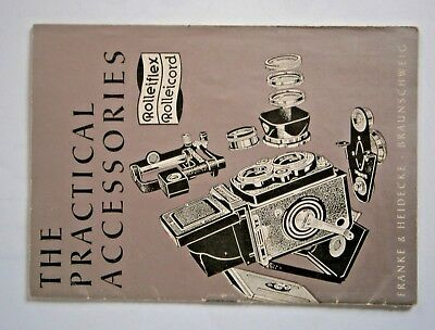 Rollei Rolleiflex TLR The practical accessories 3.5 brochure 1957
