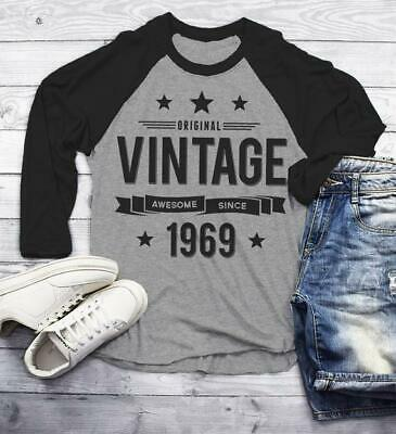 ab415bae8 Men's 50th Birthday T Shirt Original Vintage Shirt Awesome Since 1969 Gift  Idea