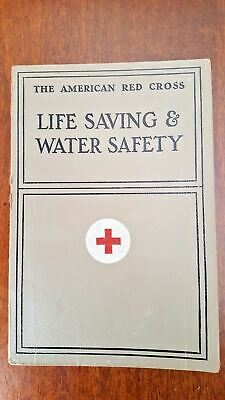 8c4e8f85153 Vintage American Red Cross Life Saving and Water Safety Book 1937