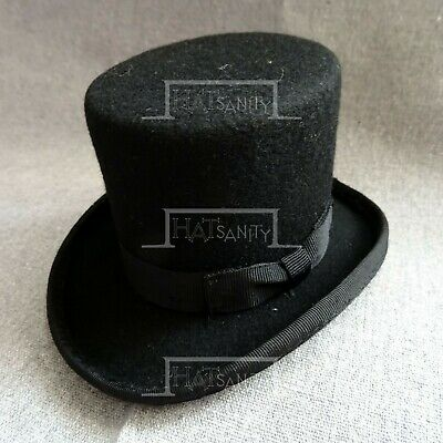 CLASSIC Wool Felt Mini Top Hat Women Fascinators Ladies Topper Party NEW | Black
