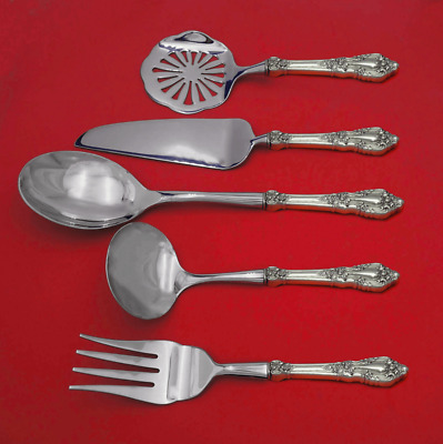 2019 Fashion Nellie Custis By Lunt Sterling Silver Hostess Set 5pc Hhws Custom Made Furniture