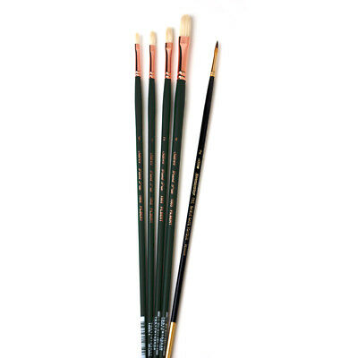 Silver Brush Grand Prix Brushes for Oil/Acrylic, Set of 5