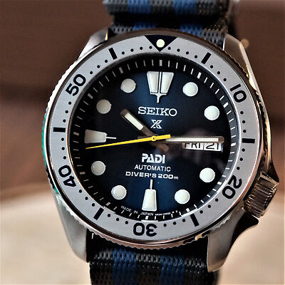 New Seiko Skx007 Mod Padi Dial Sapphire Crystal Silver Bezel Coin