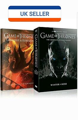Brand New Game of Thrones Season 7 DVD Box Set Conquest & Rebellion 2017 Free PP