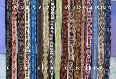 Hand Woven Ribbon Belt with dolls on ends 15 colors Jalieza Oaxaca Mexican Boho