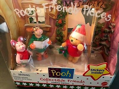 Winnie-the-Pooh Collectible Friends Holiday Edition Boxed Set c.1999 Mattel