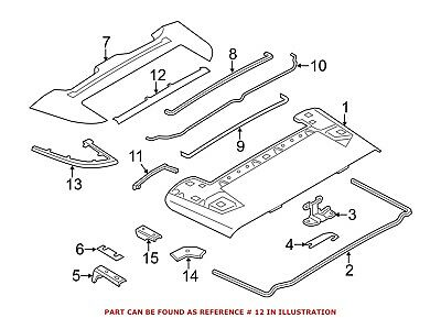 Convertible Top Headliner Tension Rope Genuine For BMW 54377277475