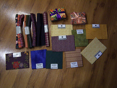 LOT NICE QUILT Fabric PRE-CUT ASSORTED SIZES  QUILTING SQUARES VARIETY PCS