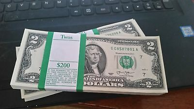 New Uncirculated $2 Bill / Two Dollar Note