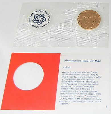 MINT Sam Adams & Patrick Henry Bicentennial First Day Cover Medal/Token/Stamps 2