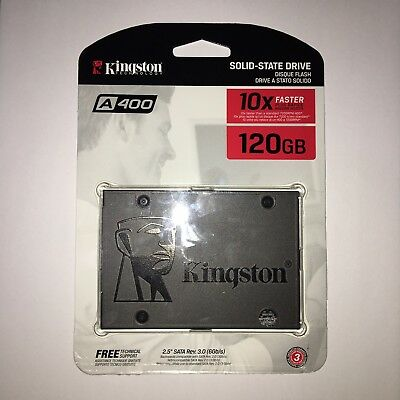 "Kingston A400 2.5"" 120GB SSD SATA III 2.5 inch Solid State Drive."