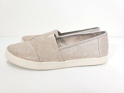 2d71922ae72 TOMS ROSE GOLD Glimmer Avalon Slip On Shoes Flats Womens Size 7.5 ...