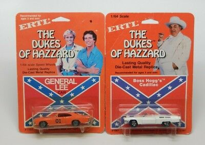 ERTL The Dukes of Hazzard General Lee and Boss Hogg's Cadillac