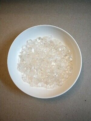 SMALL CLEAR QUARTZ TUMBLED CHIPS 50g -   PERFECT FOR WATER BOTTLE REFILS