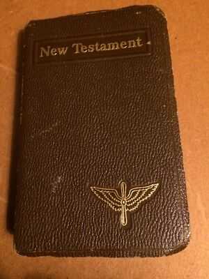"WWII USGI BIBLE "" New Testament "" WW2  US ARMY AIR CORPS  ISSUE !"