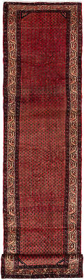 """Hand-knotted Persian Carpet 2'9"""" x 11'11"""" Persian Vintage Traditional Wool Rug"""
