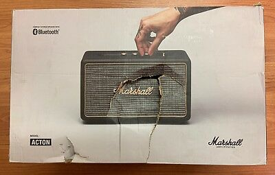 Marshall Compact stereo Speaker with Bluetooth Acton, Black (Damaged Box)
