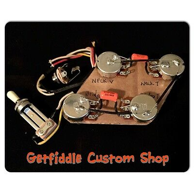 gibson les paul 50s wiring harness bourns pots    022uf cap switch jack