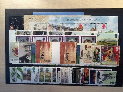 GB mint stamps (full gum)  never hinged for use as Postage - £47 face for £35.25