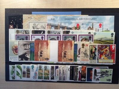 GB mint stamps (full gum)  never hinged for use as Postage - £43.05 face