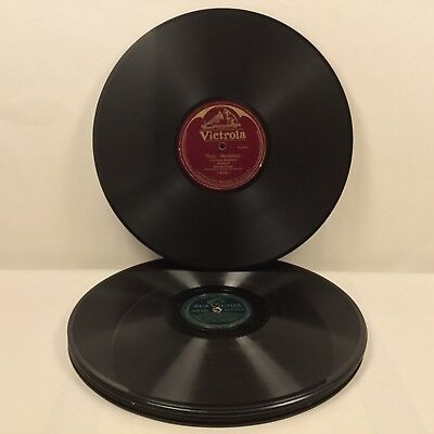 """9 Shellac 78Rpm Record Collection Rca Victor Victrola 12"""""""