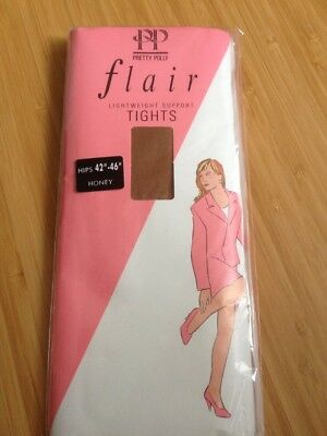 Pretty Polly Flair Lightweight Support Size Medium Nylon Tights (bx44)