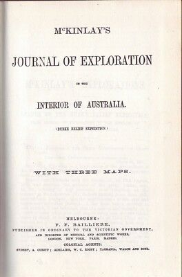 J. McKinlay JOURNAL OF EXPLORATION IN THE INTERIOR OF AUSTRALIA HC Book