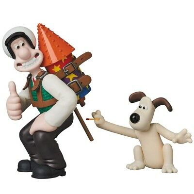Medicom UDF-424 Ultra Detail Figure Wallace and Gromit Wallace with Techno Trous