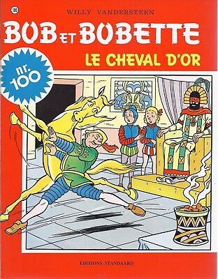 BD  Bob et Bobette- Le cheval d'or  - N°100 - RE. -1998 - TBE -Vandersteen