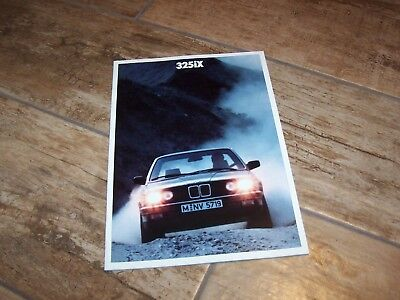 Catalogue / Brochure BMW 325 IX 1987  //