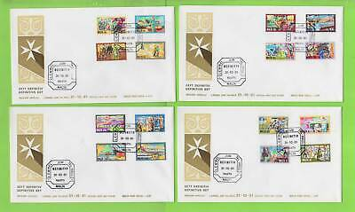 Malta 1981 History of Industry definitive set on four First Day Covers