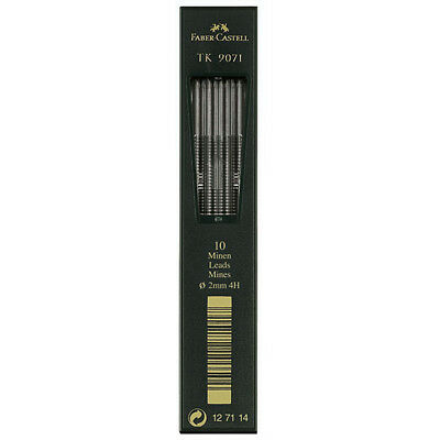 Faber-Castell - Tk Clutch Pencil Leads - Tube of 10 Leads , 2Mm, 4H