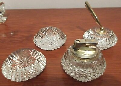 4 x Tyrone Crystal Drumreagh Paperweights includes penholder & lighter