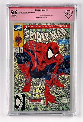 Spider-Man #1 CBCS like CGC 9.6 NM+ Signature Signed by Todd McFarlane
