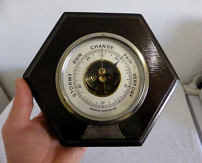 Antique GERMANY 1930's Art Deco ANEROID BAROMETER (Presented to H.W Hutchinson)