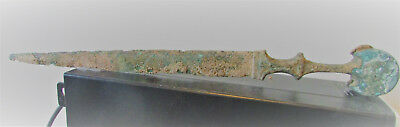 Circa 1000Bc Ancient Luristan Bronze Battle Object Rare Type Of Hilt Beautiful