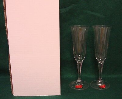 Gorham WEDDING TOAST (GOR1) Champagne Flutes SET of TWO Mint in Box